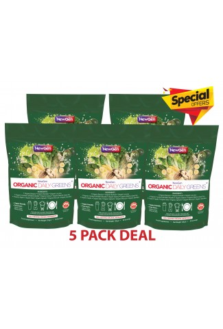 Organic Daily Greens, 5 pack deal £25 off. Normal SRP £224.95