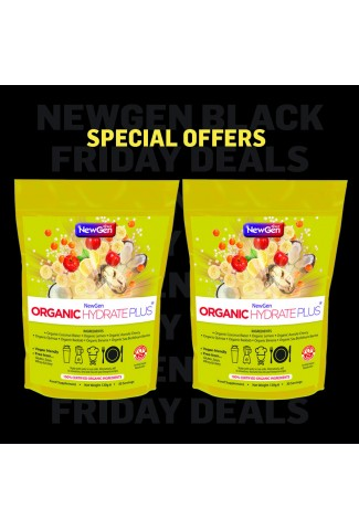 Black Friday deal - £12 off pack of 2 x Organic Hydrate Plus - Normal SRP £89.98