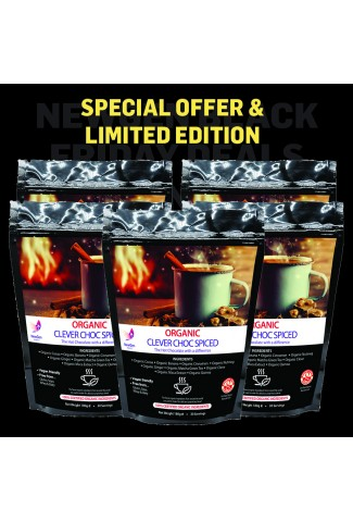 Limited Edition - Organic Clever Choc Spiced, 5 pack Black Friday deal £20 off. Normal SRP £224.95