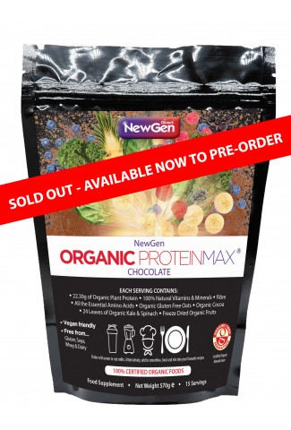 Organic ProteinMax (Chocolate) - In stock from 21st Oct
