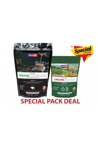 Special offer - £6 off  1 x Organic Smartea and 1 x Organic CleverChoc - Normal SPR £89.98