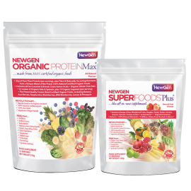 Sold out - Superboost Duo Pack (1 x ORG ProteinMax Original + 1 x Superfoods Plus) available now on pre-order