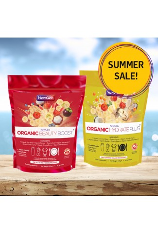 Summer sale whilst stocks last - £12 off - 1 x Organic Beauty Boost and 1 x Organic Hydrate Plus - Normal SRP £90.49