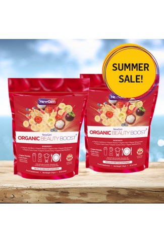 Summer sale - Organic Beauty Boost pack of 2 - £12 off. Normal SRP £91