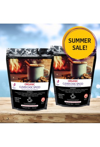 Summer sale - Organic Spiced Clever Choc, 2 pack deal £12 off. Normal SRP £89.98