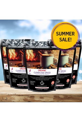 Summer sale - Organic Spiced Clever Choc, 5 pack deal £30 off. Normal SRP £224.95