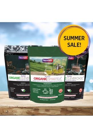 Summer sale - £18 off  1 x Organic Smartea and 2 x Organic CleverChoc - Normal SPR £134.97