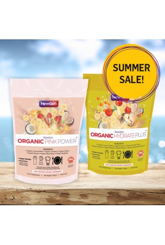 Summer sale - £12 off pack of 1 x Organic Hydrate Plus and 1 x Organic Pink Power - Normal SRP £90.49