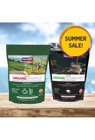 Summer sale - £12 off  1 x Organic Smartea and 1 x Organic CleverChoc - Normal SPR £89.98