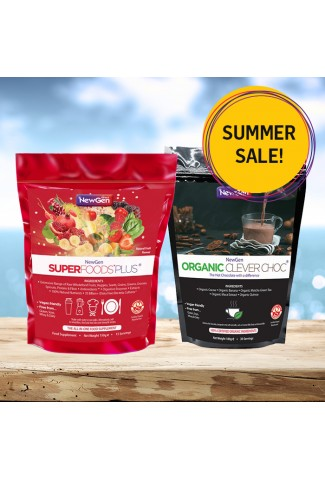 Summer Sale - £12 off 1 x Superfoods Plus and 1 x Organic Clever Choc - Normal SRP £83.98