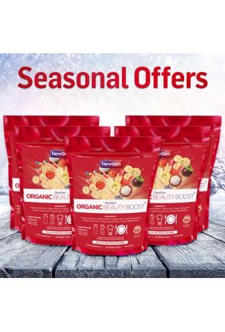 Seasonal Sale - Organic Beauty Boost pack of 5 - £25 off. Normal SRP £227.50