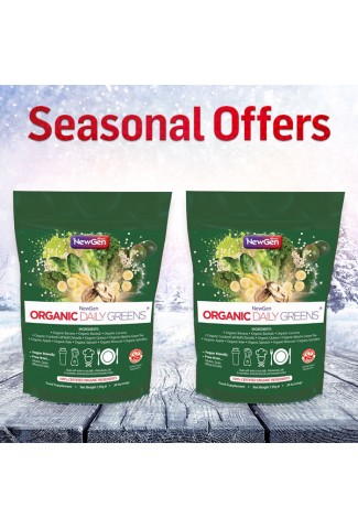 Seasonal Sale - £12 off a pack of 2 x Organic Daily Greens - Normal SRP £89.98