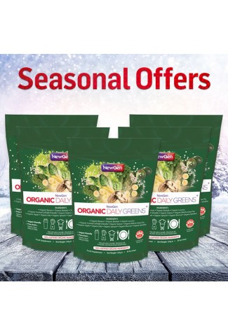 Seasonal Sale - Organic Daily Greens, 5 pack deal £25 off. Normal SRP £224.95