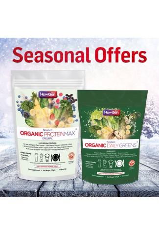 Seasonal Sale - £12 off  1 x Organic Daily Greens and 1 Organic ProteinMax Original Normal SRP £84.99