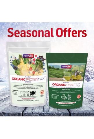 Seasonal Sale - £12 off  1 x Organic Smartea and 1 Organic ProteinMax Original Normal SRP £84.99