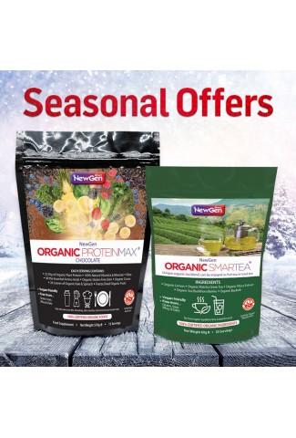 Seasonal Sale - £12 off  1 x Organic Smartea and 1 x Organic ProteinMax Chocolate Normal SRP £84.99